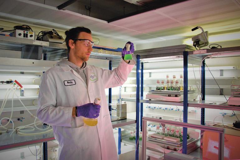 Moritz Koch im Labor